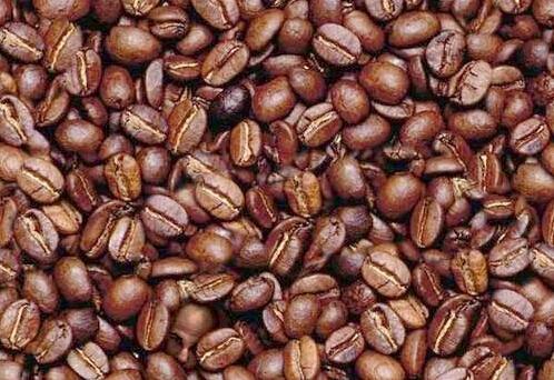 Man's head coffee beans
